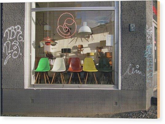 Midcentury Modern Storefront Wood Print