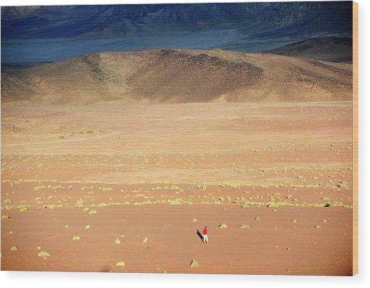 Middle East,jordan,man Walking In A Wood Print by Frédéric Soreau
