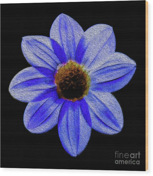 Wood Print featuring the digital art Midnight Blues by Kenneth Montgomery