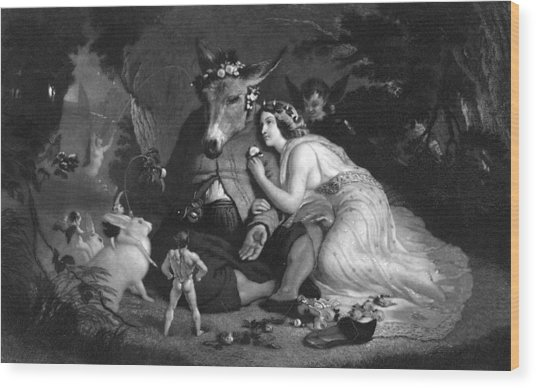Midsummer Nights Dream Illustration Wood Print by Kean Collection