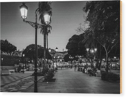 Mijas Main Square Wood Print