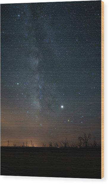 Milky Mesa Wood Print