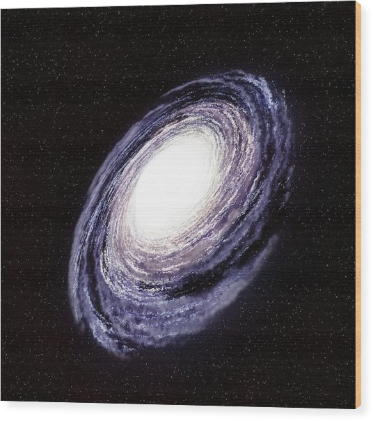 Milky Way In The Galaxy Or Universe Wood Print by Infospeed