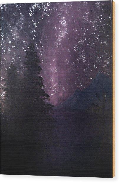 Milky Way Lake Wood Print
