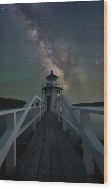Milky Way Over Doubling Point Wood Print