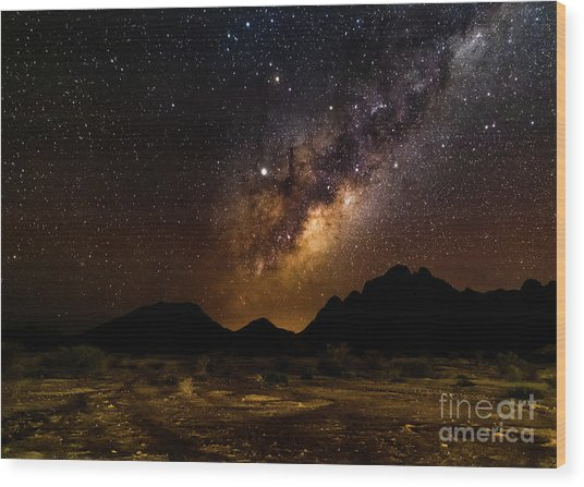 Milkyway Over Spitzkoppe 2, Namibia Wood Print