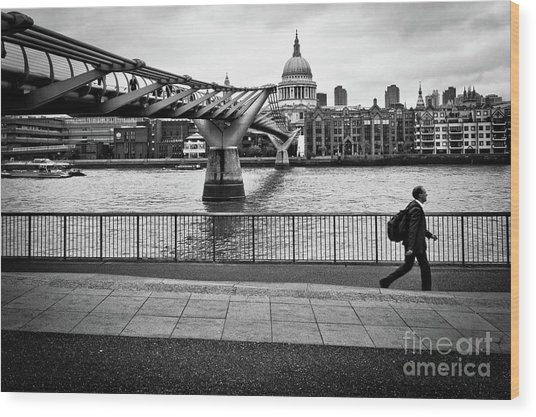 millennium Bridge 02 Wood Print