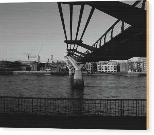Wood Print featuring the photograph Millennium Bridge  by Edward Lee