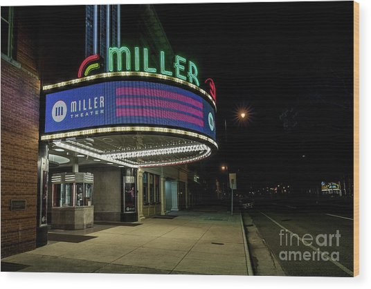 Miller Theater Augusta Ga 2 Wood Print