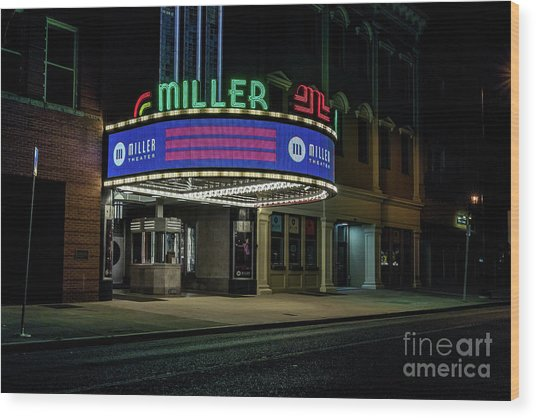 Miller Theater Augusta Ga Wood Print