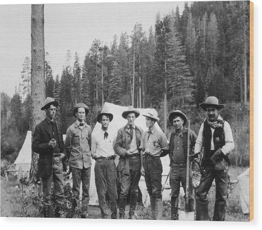 Mining Prospectors Wood Print by Hulton Archive