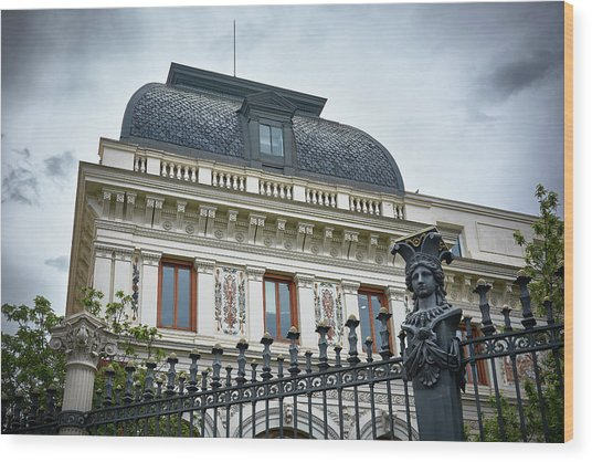 Ministry Of Agriculture Building Of Madrid Wood Print