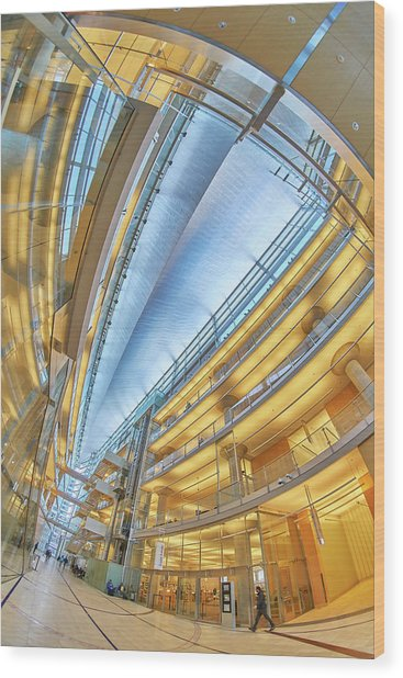 Minneapolis Central Library Interior Wood Print