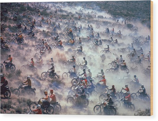Mint 400 Motocross Race Wood Print