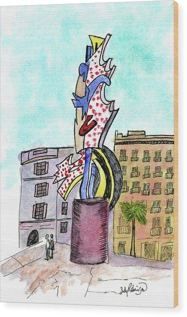 Roy Lichtenstein's El Cap Wood Print