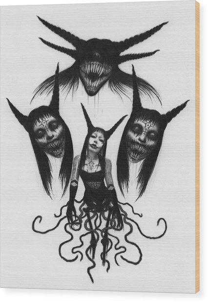 Miss Carnivorous - Artwork Wood Print
