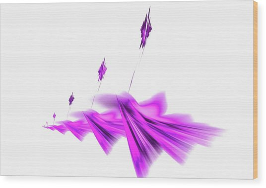 Missile Command Purple Wood Print