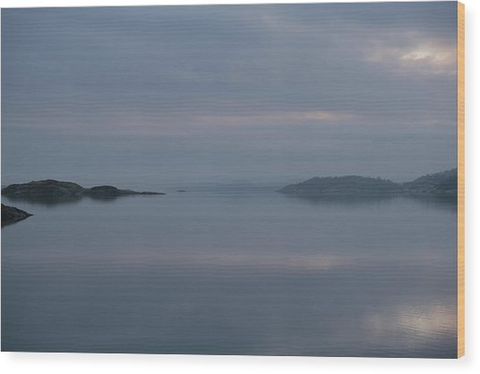 Misty Day Wood Print