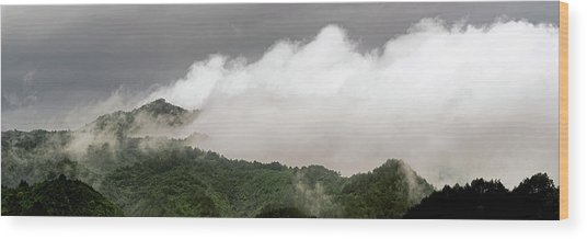 Wood Print featuring the photograph Misty Mountains II 3x1 by William Dickman