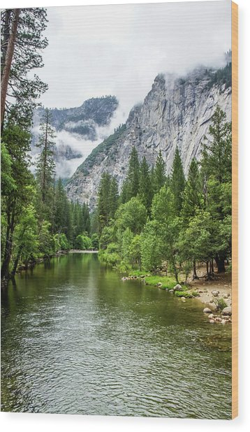 Misty Mountains, Yosemite Wood Print