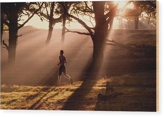 Misty Run Wood Print