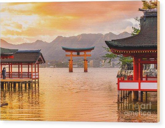 Miyajima, The  Famous Floating Torii Wood Print