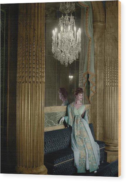 Model In A Lanvin-castillo Dress Wood Print by Henry Clarke
