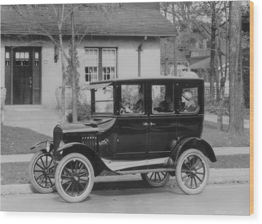 Model T Ford Wood Print by Three Lions