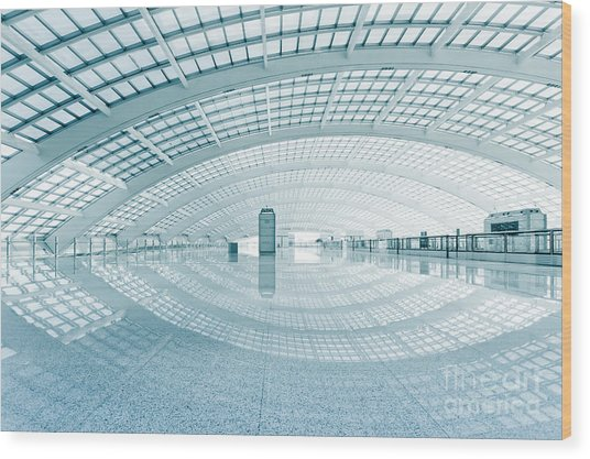 Modern Hall Of Subway Station  At T3 Wood Print by Ssguy