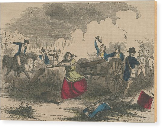 Molly Pitcher Wood Print by Hulton Archive