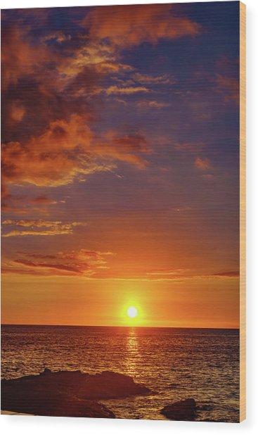 Monday Sunset Wood Print