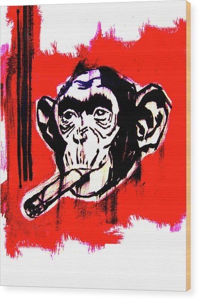 Monkey Business Wood Print