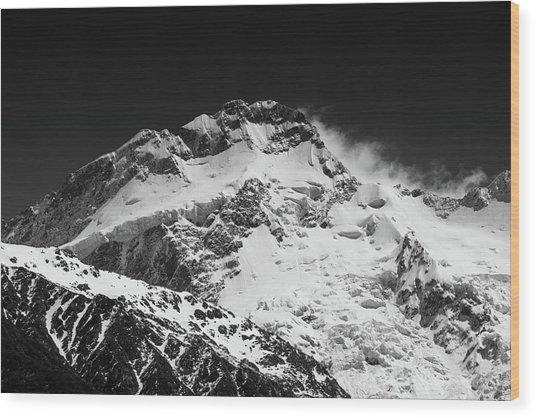 Monochrome Mount Sefton Wood Print