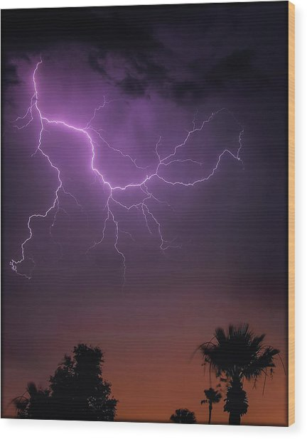 Monsoon Sunset 2019 Wood Print