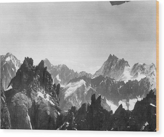 Mont Blanc Peaks Wood Print by Three Lions