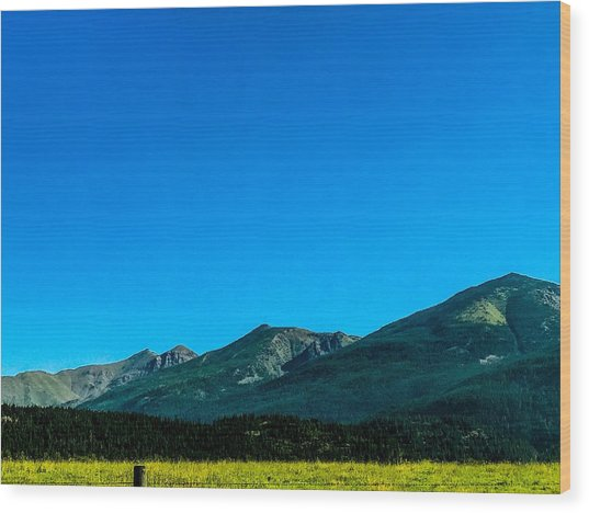 Wood Print featuring the photograph Montana Peaks And Plains by Pacific Northwest Imagery
