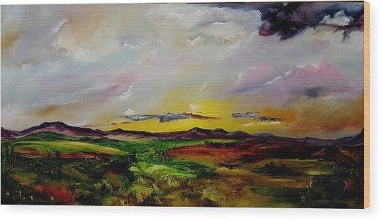 Montana Summer Storms        5519 Wood Print