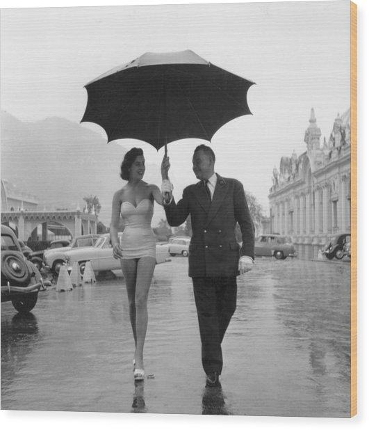 Monte Carlo Rain Wood Print