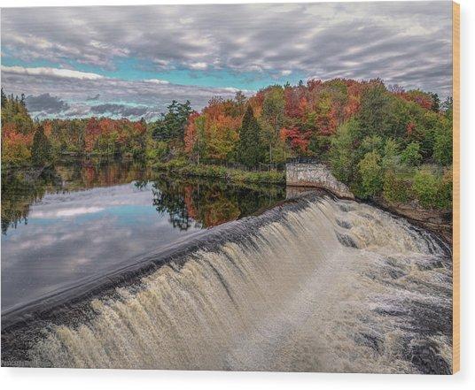 Montmorency Falls Wood Print