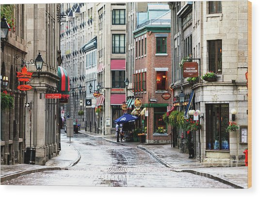Montreal Street Scene 2010 Wood Print