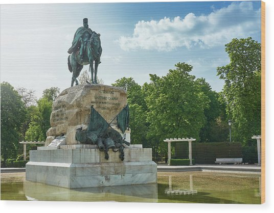 Monument To General Arsenio Martinez Campos In Madrid, Spain Wood Print