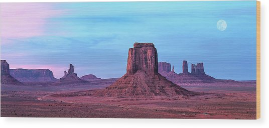 Monument Valley Panoramic Wood Print