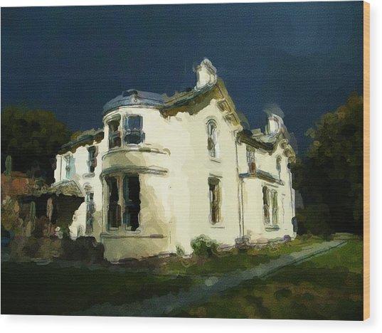 Moody Sky Over Allenbank Painting Wood Print