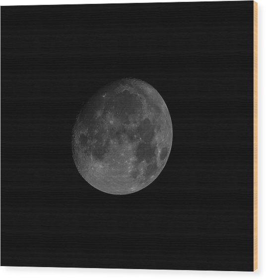Wood Print featuring the photograph Moon In A Clear Sky by Alex Lapidus