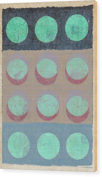 Moon Phases 1 Wood Print
