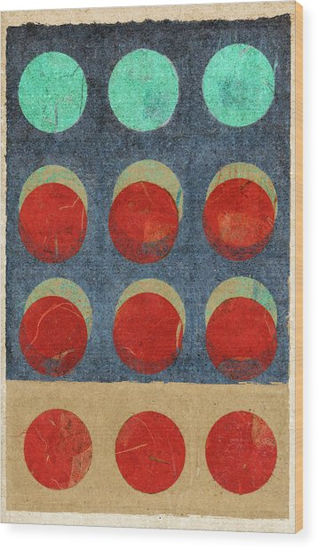Moon Phases 2 Wood Print