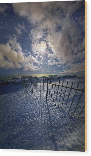 Wood Print featuring the photograph Moon Shine by Phil Koch
