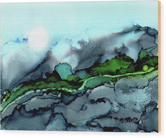 Moondance Iv Wood Print