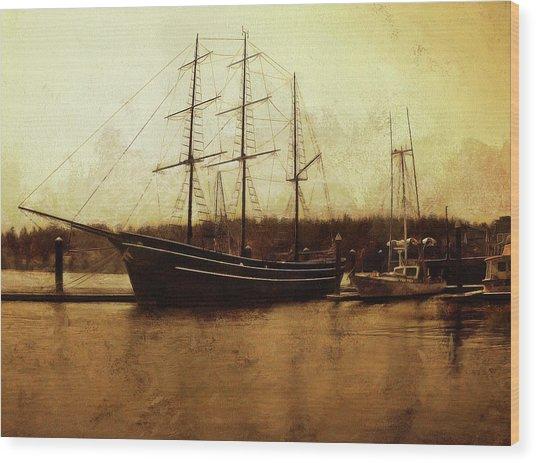 Moored Wood Print