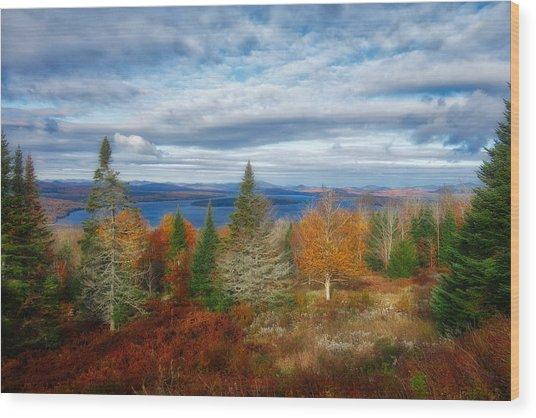 Mooselookmeguntic Lake Fall Colors Wood Print